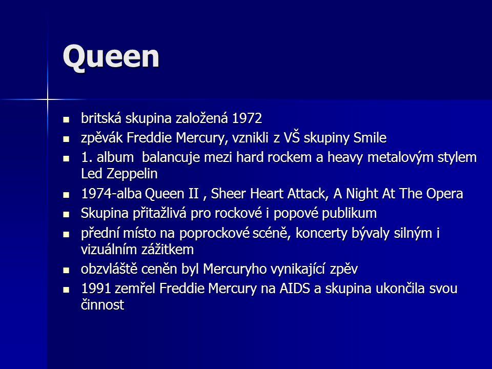 Queen britská skupina založená 1972