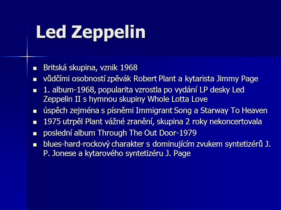 Led Zeppelin Britská skupina, vznik 1968