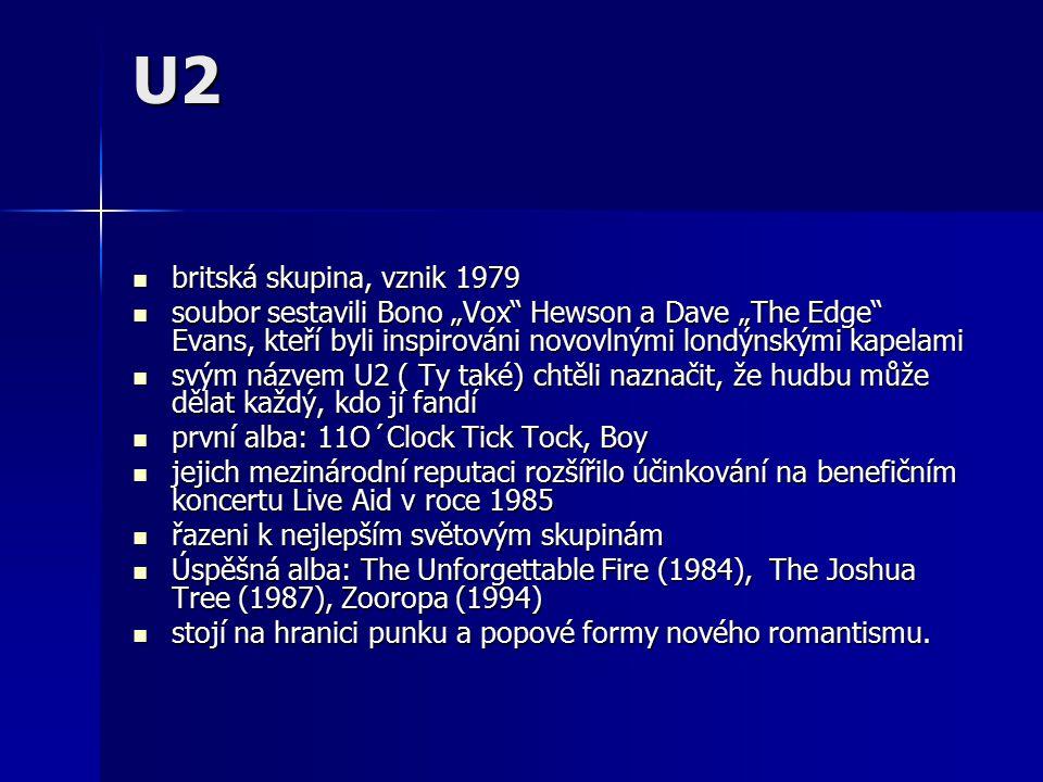 U2 britská skupina, vznik 1979