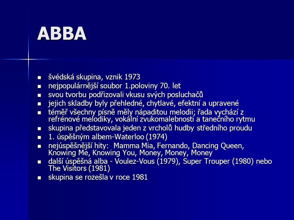 ABBA švédská skupina, vznik 1973