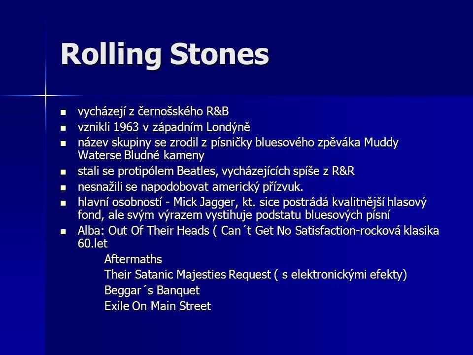 Rolling Stones vycházejí z černošského R&B