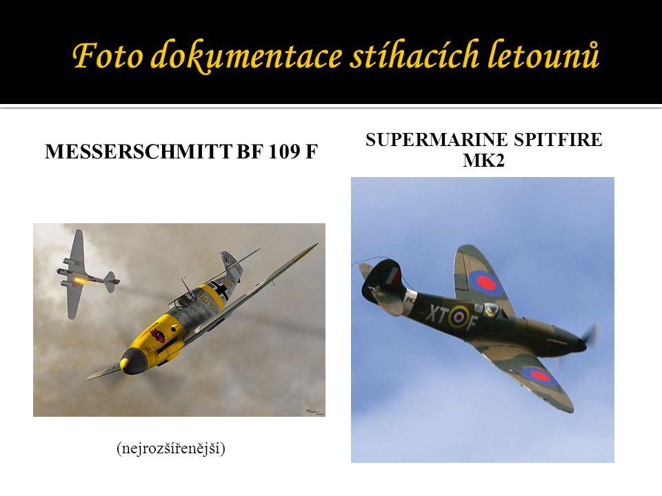 Foto dokumentace stíhacích letounů