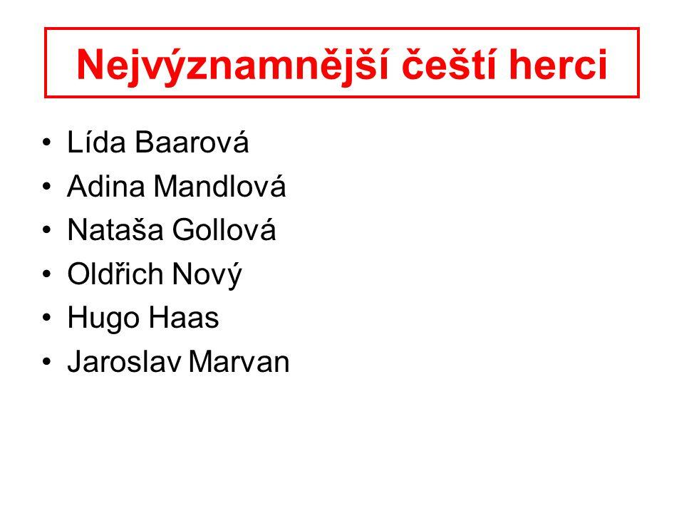 Nejvýznamnější čeští herci
