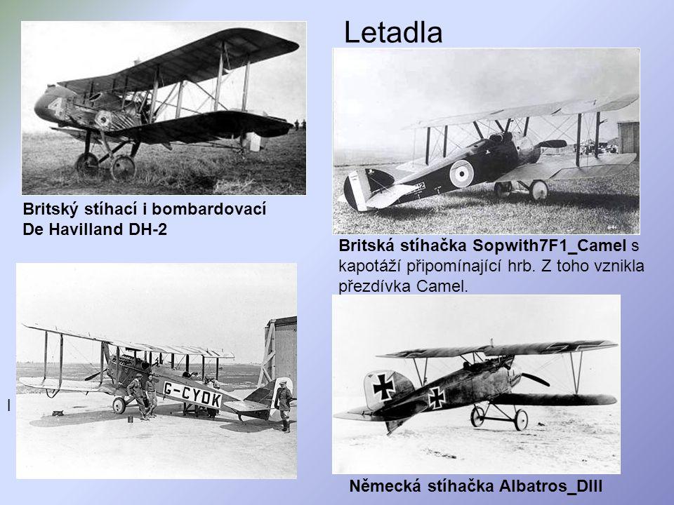 Letadla Britský stíhací i bombardovací De Havilland DH-2