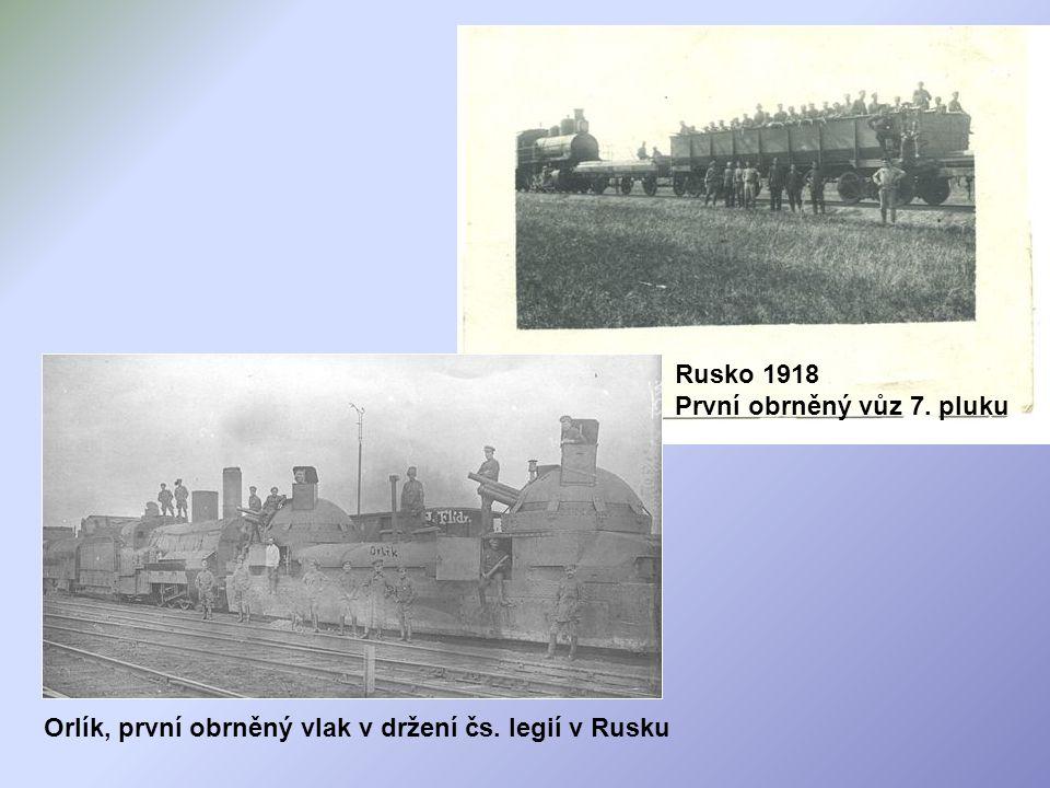 Rusko 1918 První obrněný vůz 7. pluku
