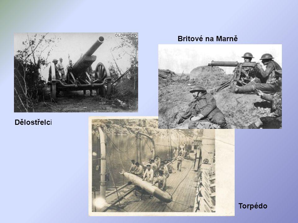 Britové na Marně Dělostřelci Torpédo