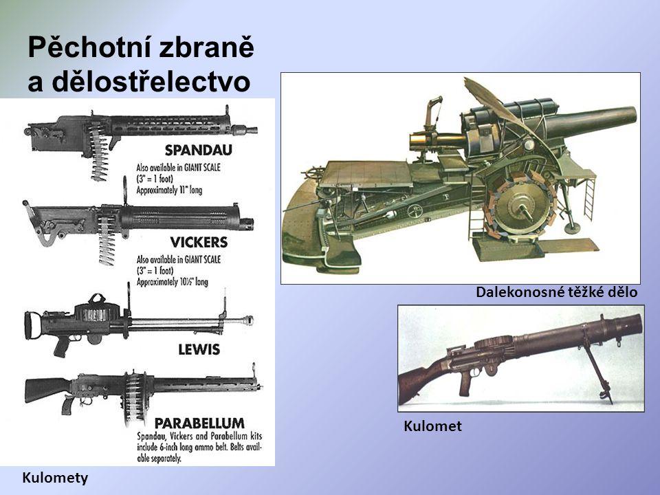 Pěchotní zbraně a dělostřelectvo