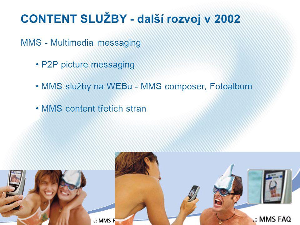 CONTENT SLUŽBY - další rozvoj v 2002