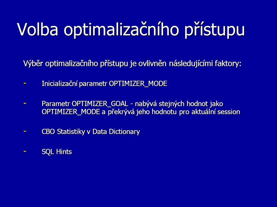Volba optimalizačního přístupu