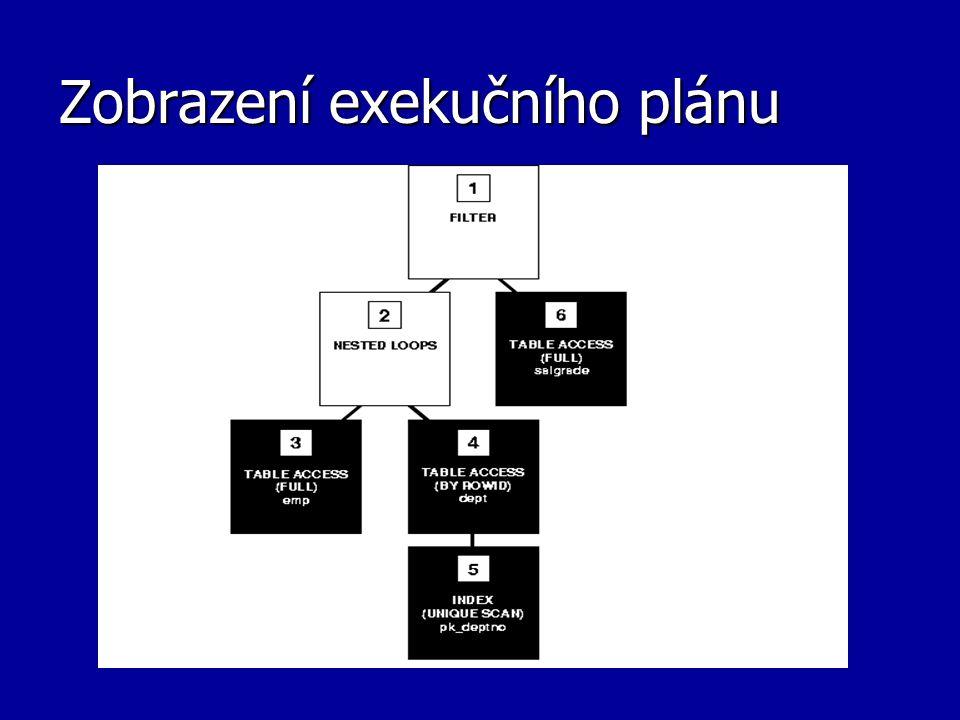 Zobrazení exekučního plánu