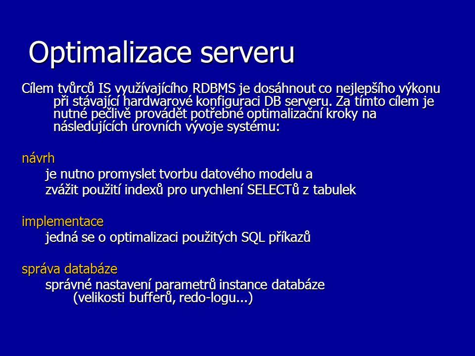 Optimalizace serveru