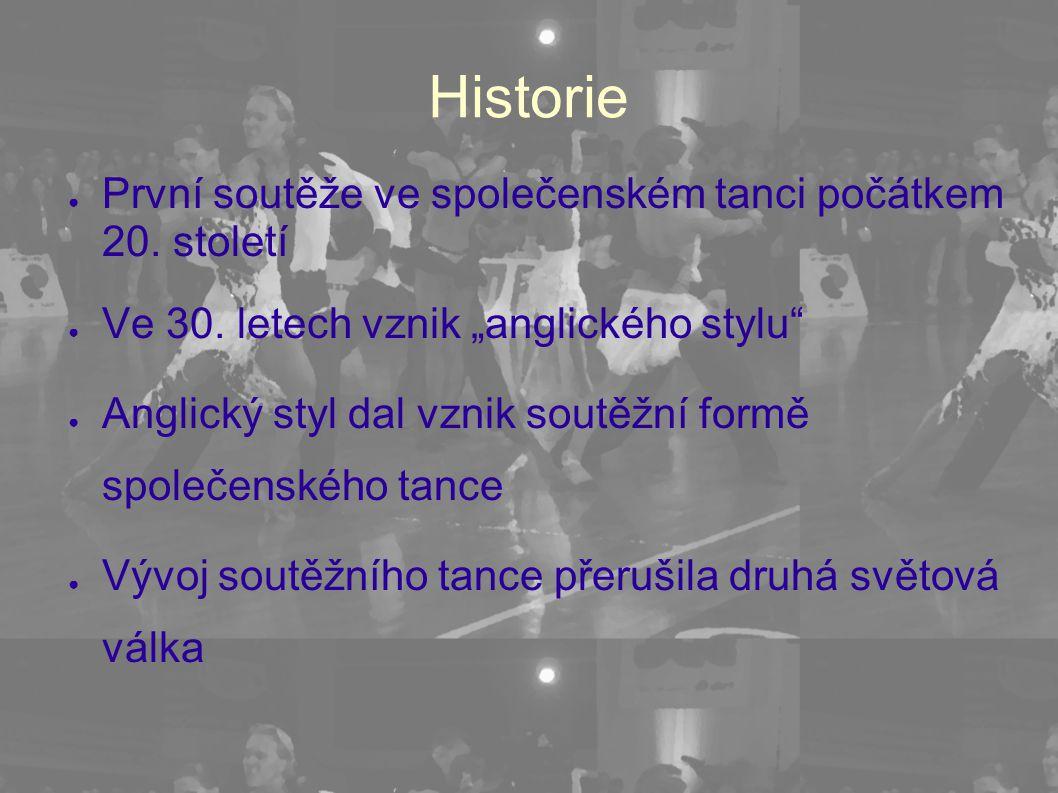 Historie První soutěže ve společenském tanci počátkem 20. století
