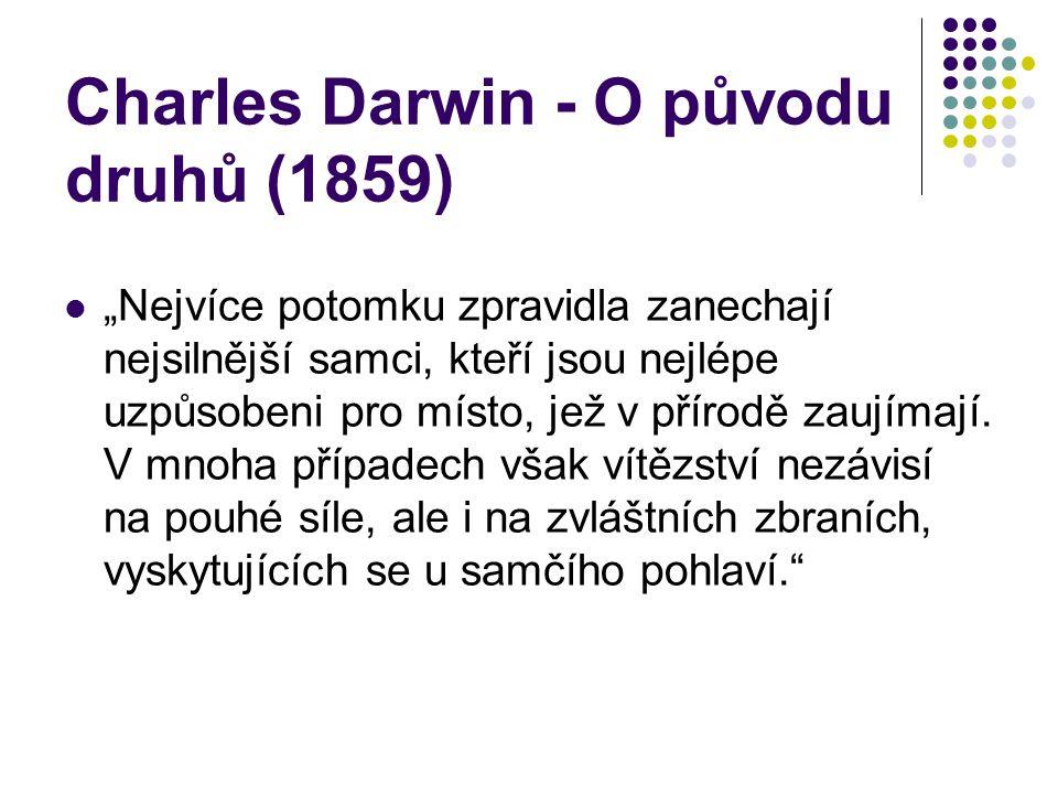 Charles Darwin - O původu druhů (1859)