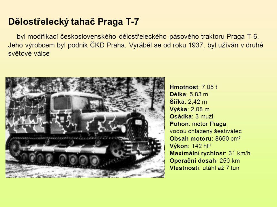 Dělostřelecký tahač Praga T-7