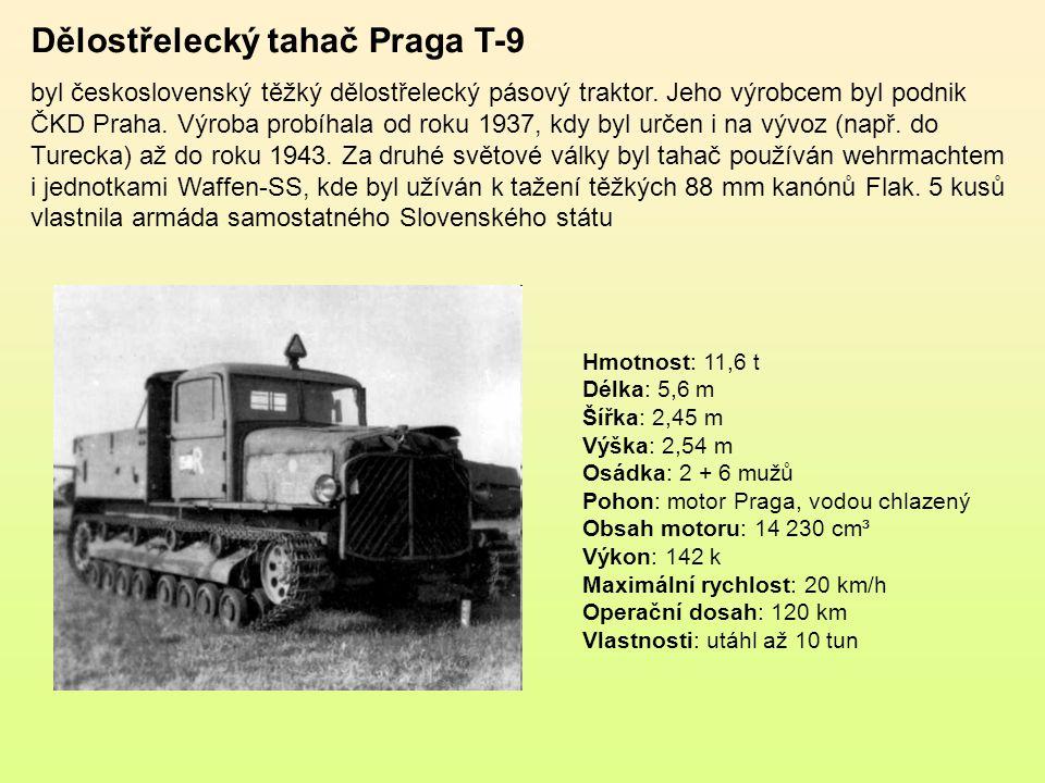 Dělostřelecký tahač Praga T-9