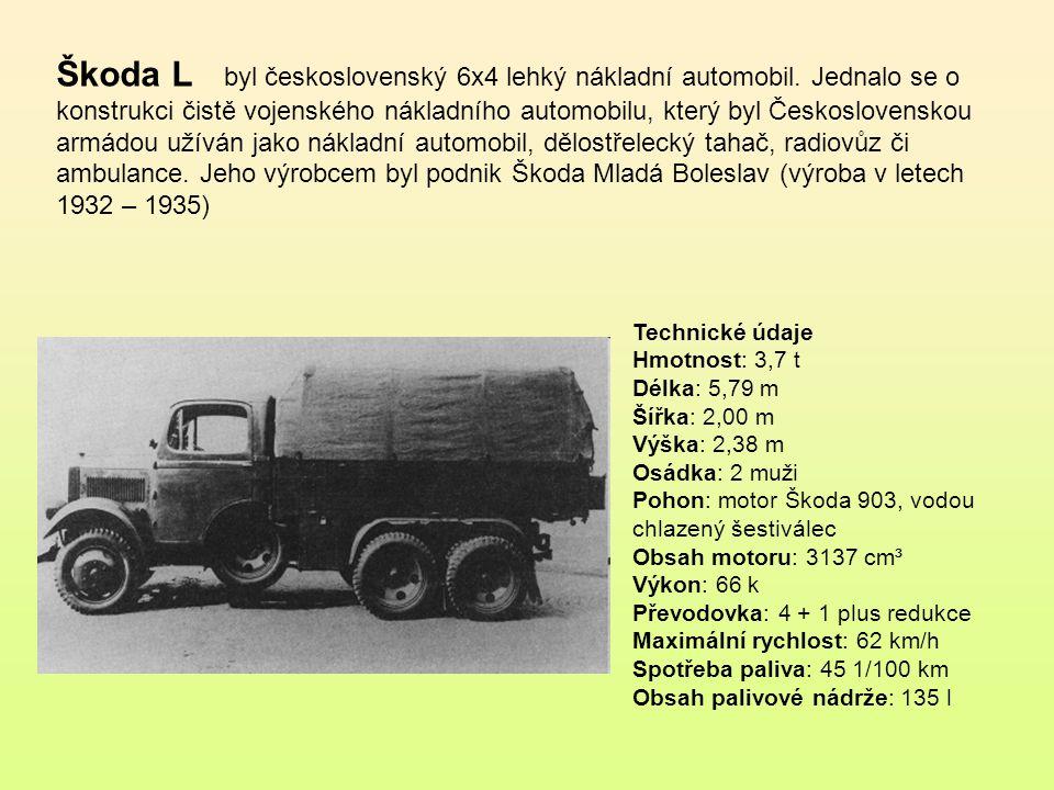 Škoda L byl československý 6x4 lehký nákladní automobil