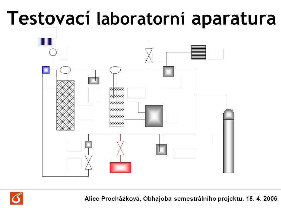 Testovací laboratorní aparatura