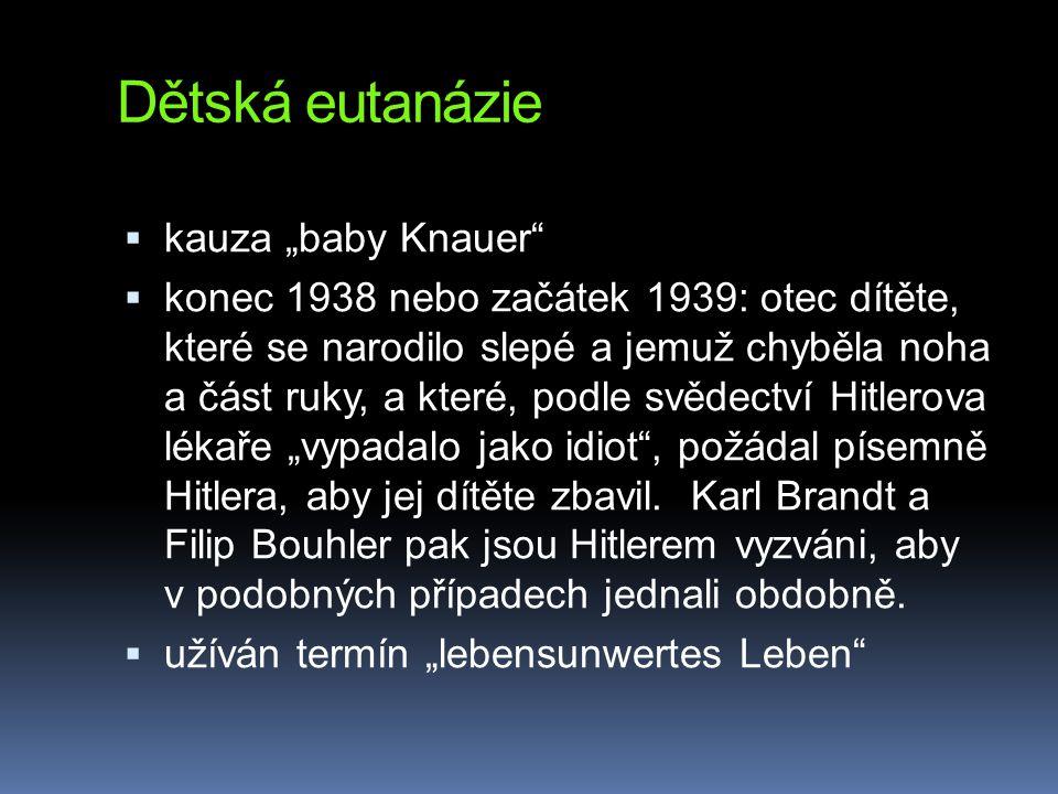 "Dětská eutanázie kauza ""baby Knauer"