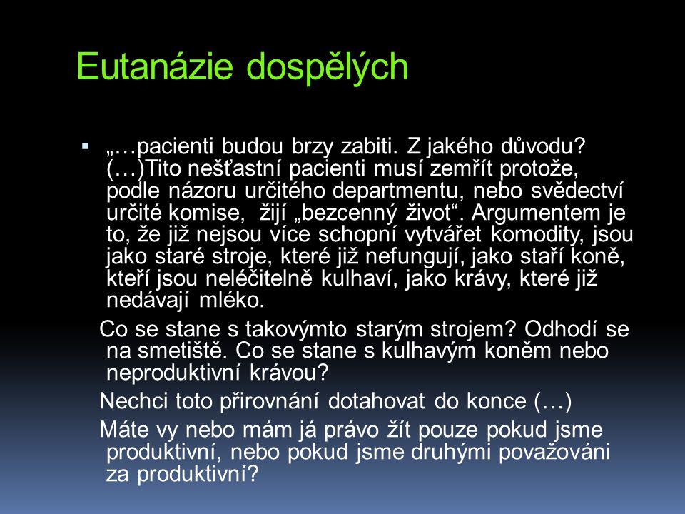 Eutanázie dospělých