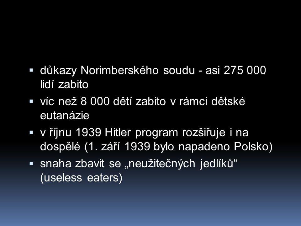 důkazy Norimberského soudu - asi 275 000 lidí zabito