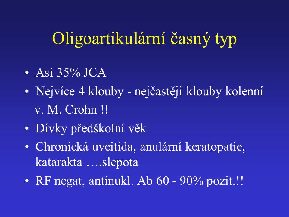 Oligoartikulární časný typ