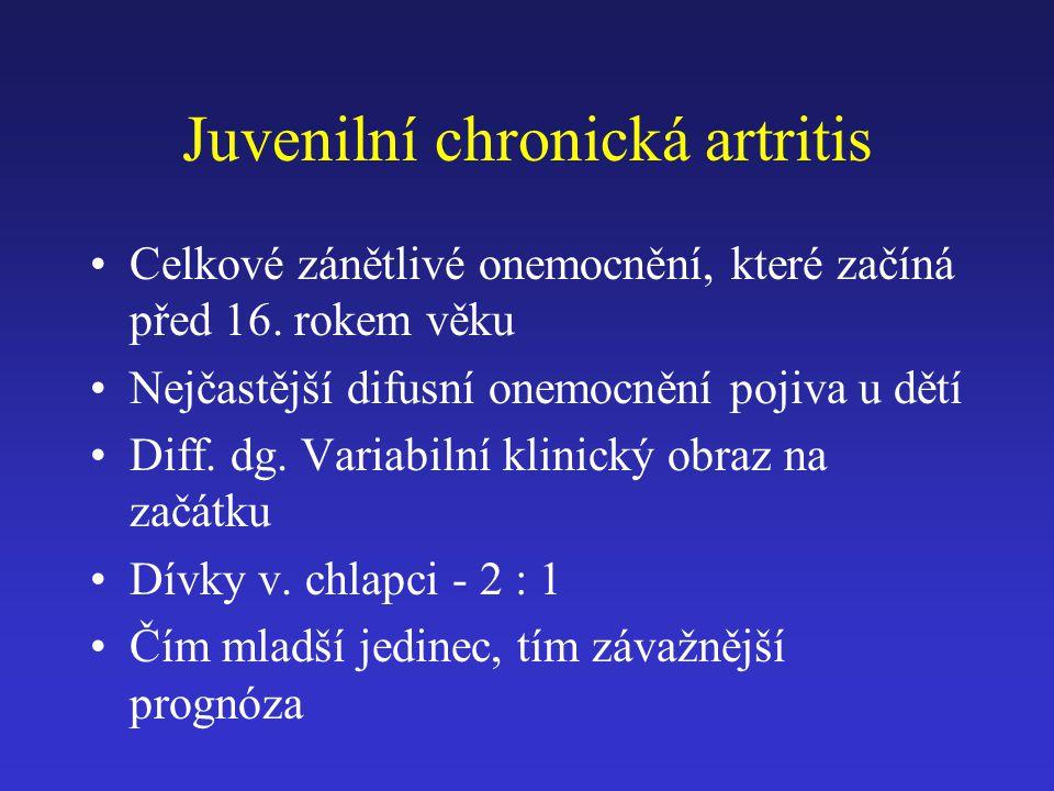 Juvenilní chronická artritis