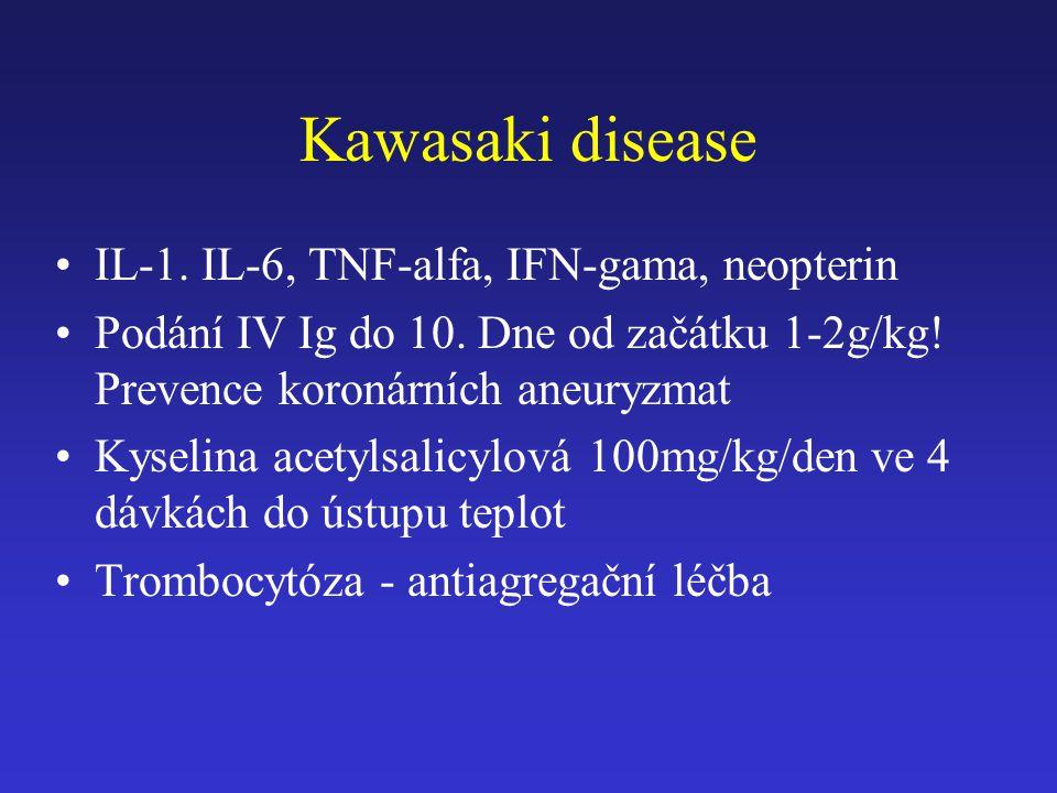 Kawasaki disease IL-1. IL-6, TNF-alfa, IFN-gama, neopterin