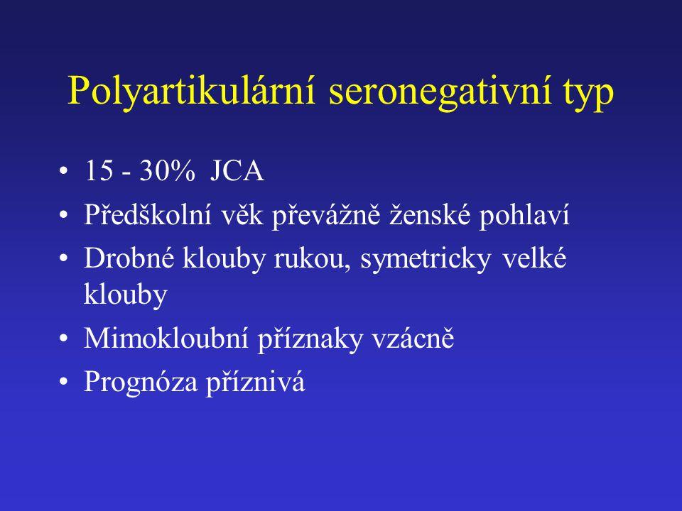 Polyartikulární seronegativní typ