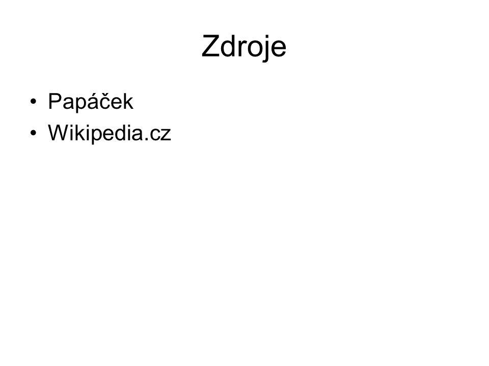 Zdroje Papáček Wikipedia.cz