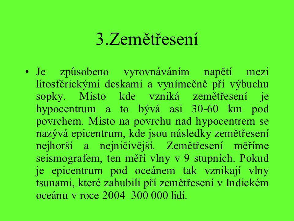 3.Zemětřesení