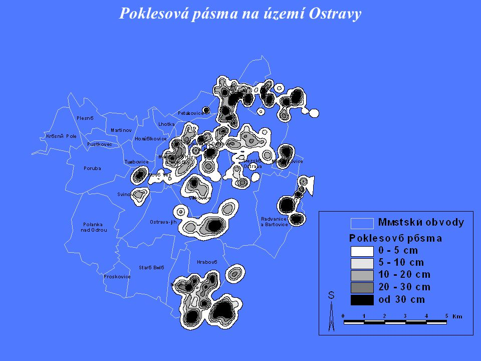 Poklesová pásma na území Ostravy