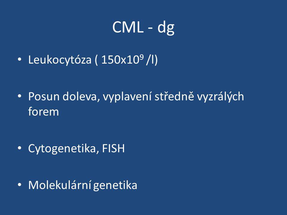 CML - dg Leukocytóza ( 150x109 /l)