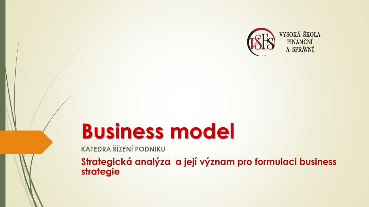 Business model KATEDRA ŘÍZENÍ PODNIKU.