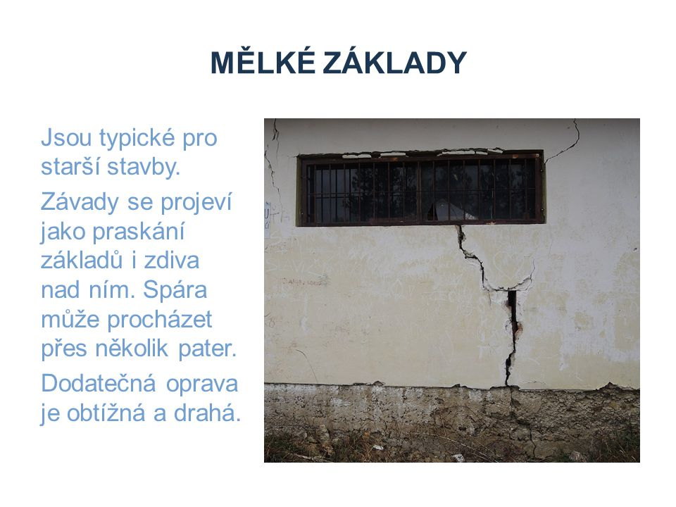 Zdroje Mělké základy.