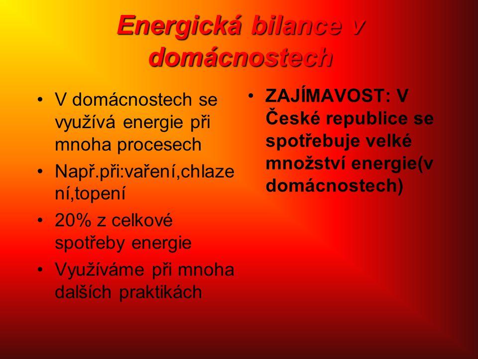 Energická bilance v domácnostech