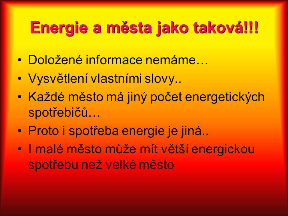 Energie a města jako taková!!!