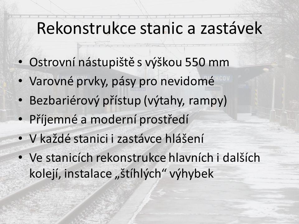 Rekonstrukce stanic a zastávek