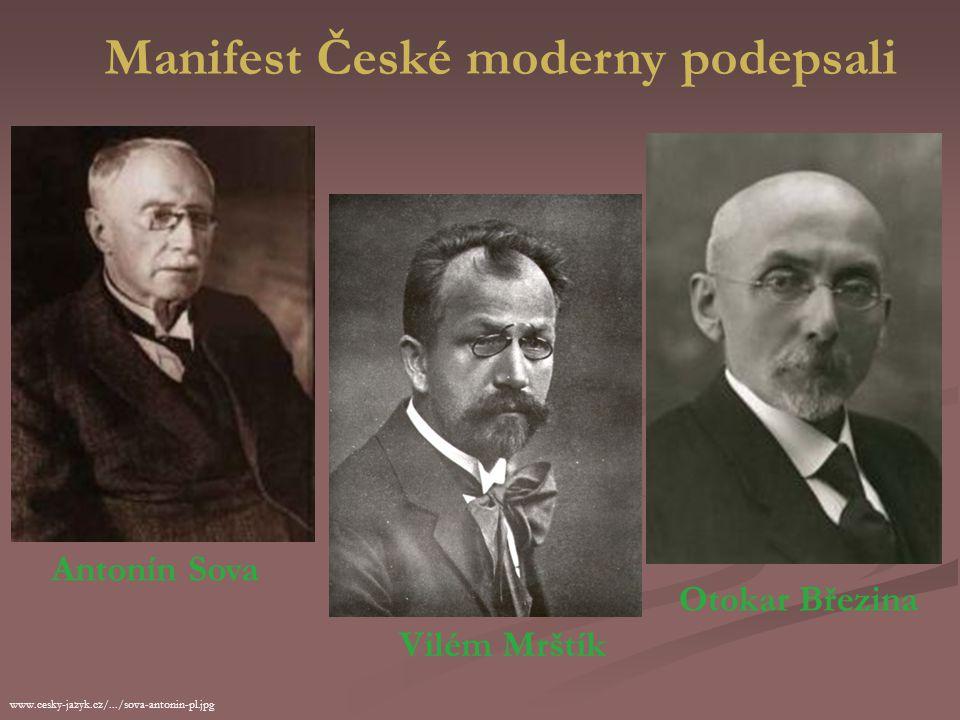 Manifest České moderny podepsali