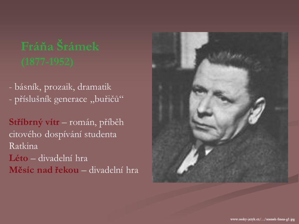 Fráňa Šrámek (1877-1952) básník, prozaik, dramatik