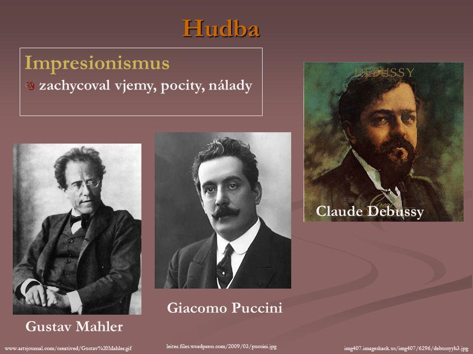 Hudba Impresionismus zachycoval vjemy, pocity, nálady Claude Debussy