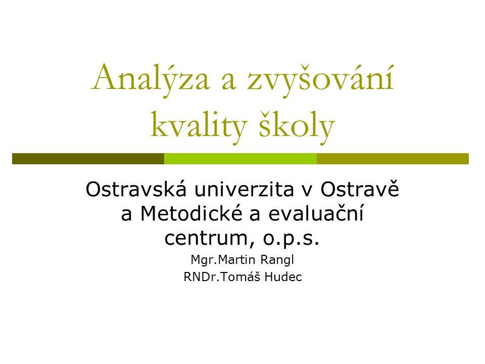 Analýza a zvyšování kvality školy