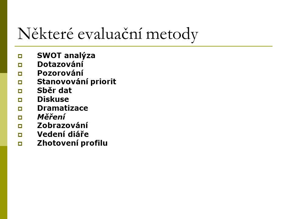 Některé evaluační metody