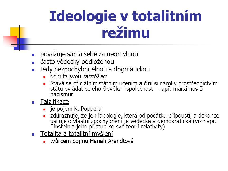 Ideologie v totalitním režimu