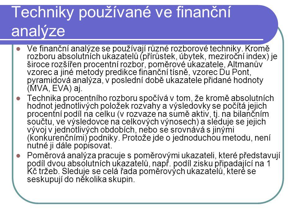 Techniky používané ve finanční analýze