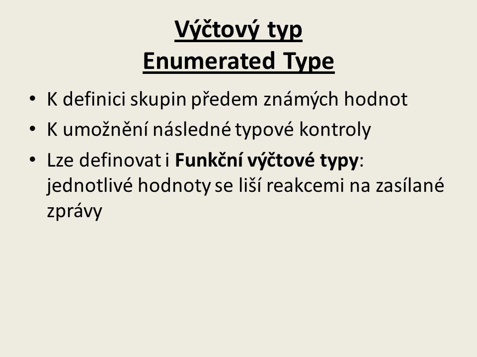 Výčtový typ Enumerated Type