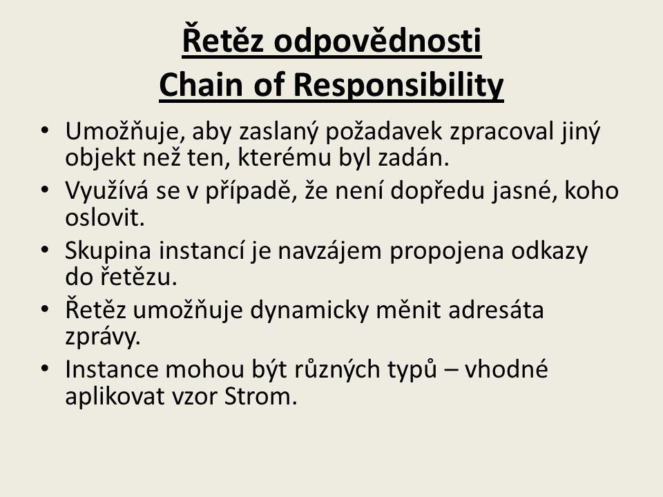 Řetěz odpovědnosti Chain of Responsibility