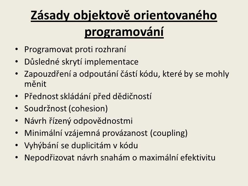 Zásady objektově orientovaného programování