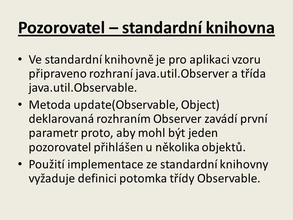 Pozorovatel – standardní knihovna