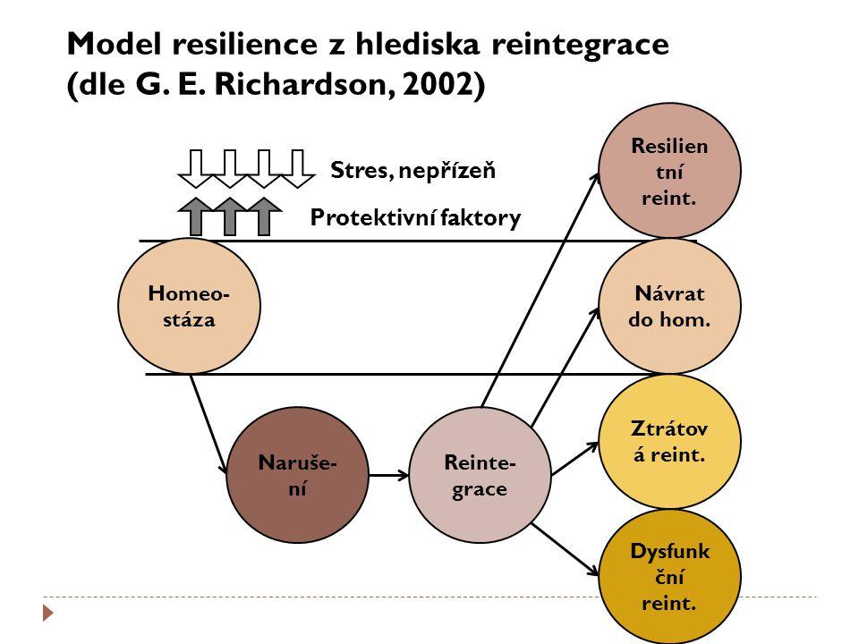 Model resilience z hlediska reintegrace (dle G. E. Richardson, 2002)
