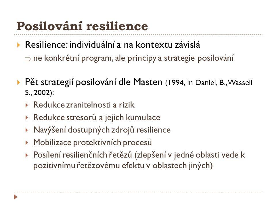 Posilování resilience
